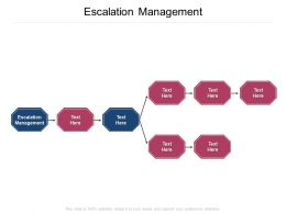 Escalation Management Ppt Powerpoint Presentation Pictures Graphics Cpb