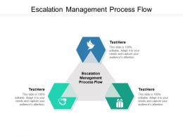 Escalation Management Process Flow Ppt Powerpoint Presentation Model Background Designs Cpb