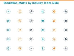 Escalation Matrix By Industry Icons Slide Ppt Powerpoint Presentation Layouts Tips