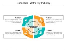 Escalation Matrix By Industry Ppt Powerpoint Presentation Styles Background Designs Cpb