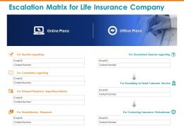 Escalation Matrix For Life Insurance Company Unresolved Ppt Powerpoint Presentation Pictures Sample