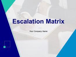 Escalation Matrix Powerpoint Presentation Slides