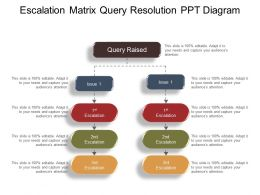 Escalation Matrix Query Resolution Ppt Diagram