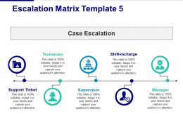 Escalation Matrix Technician Supervisor Manager Support Ticket Case Escalation
