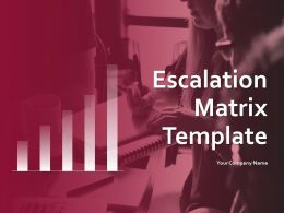 Escalation Matrix Template Powerpoint Presentation Slides