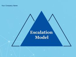 Escalation Model Powerpoint Presentation Slides