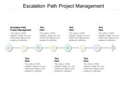 Escalation Path Project Management Ppt Powerpoint Presentation Outline Sample Cpb