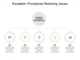 Escalation Procedures Resolving Issues Ppt Powerpoint Presentation Slides Influencers Cpb