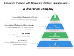 Escalation Pyramid With Corporate Strategy Business Functional
