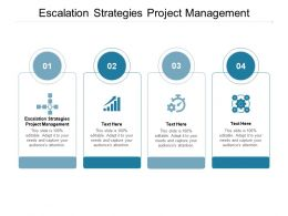 Escalation Strategies Project Management Ppt Powerpoint Presentation Styles Examples Cpb