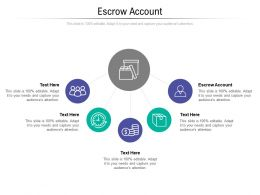 Escrow Account Ppt Powerpoint Presentation Infographics Pictures Cpb