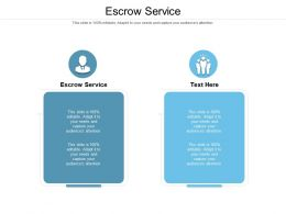 Escrow Service Ppt Powerpoint Presentation Infographic Template Icon Cpb