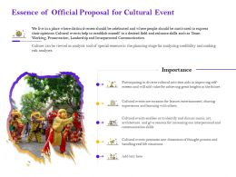 Essence Of Official Proposal For Cultural Event Ppt Powerpoint Presentation Gallery Files