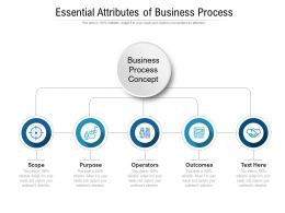 Essential Attributes Of Business Process