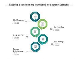 Essential Brainstorming Techniques For Strategy Sessions