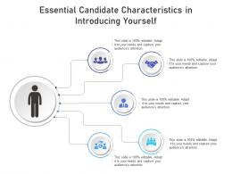 Essential Candidate Characteristics In Introducing Yourself Infographic Template