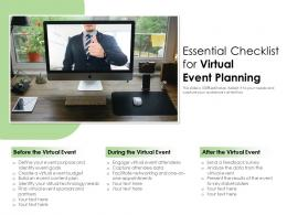 Essential Checklist For Virtual Event Planning