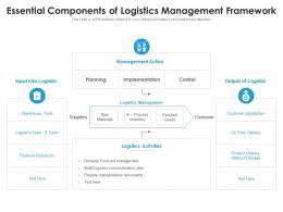 Essential Components Of Logistics Management Framework