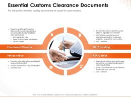 Essential Customs Clearance Documents Invoice Ppt Powerpoint Presentation File Good