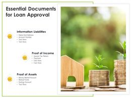 Essential Documents For Loan Approval