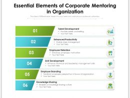 Essential Elements Of Corporate Mentoring In Organization