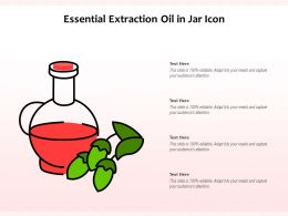 Essential Extraction Oil In Jar Icon