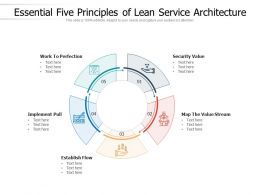 Essential Five Principles Of Lean Service Architecture