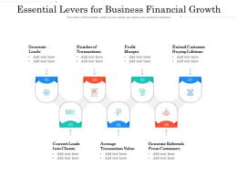 Essential Levers For Business Financial Growth