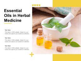 Essential Oils In Herbal Medicine