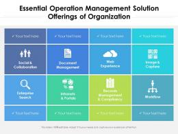 Essential Operation Management Solution Offerings Of Organization