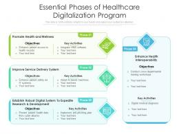 Essential Phases Of Healthcare Digitalization Program