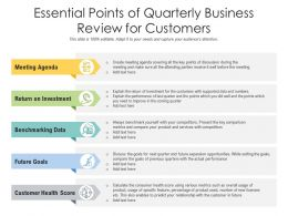 Essential Points Of Quarterly Business Review For Customers