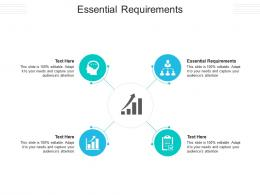 Essential Requirements Ppt Powerpoint Presentation Outline Professional Cpb