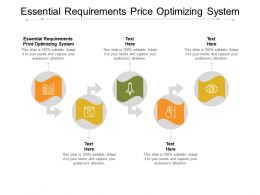 Essential Requirements Price Optimizing System Ppt Powerpoint Presentation Styles Gridlines Cpb