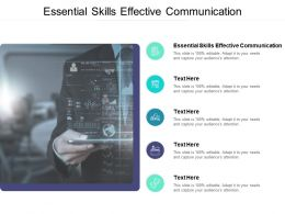 Essential Skills Effective Communication Ppt Powerpoint Presentation File Cpb
