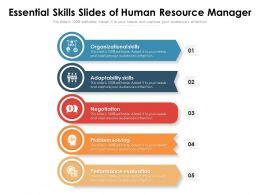 Essential Skills Slides Of Human Resource Manager