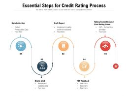 Essential Steps For Credit Rating Process