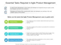 Essential Tasks Required In Agile Product Management