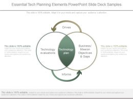 Essential Tech Planning Elements Powerpoint Slide Deck Samples
