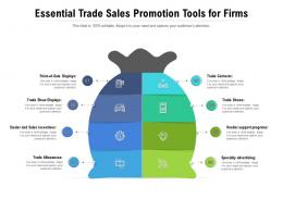 Essential Trade Sales Promotion Tools For Firms