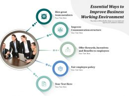 Essential Ways To Improve Business Working Environment