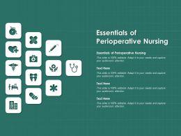 Essentials Of Perioperative Nursing Ppt Powerpoint Presentation Infographic Template
