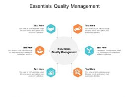 Essentials Quality Management Ppt Powerpoint Presentation Professional Graphic Cpb