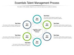 Essentials Talent Management Process Ppt Powerpoint Presentation Infographics Examples Cpb