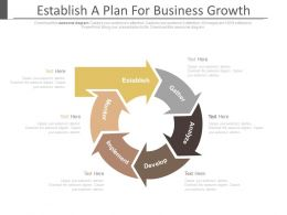 Establish A Plan For Business Growth Ppt Slides