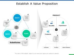Establish A Value Proposition Experience Ppt Powerpoint Presentation Professional