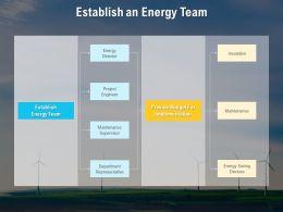 Establish An Energy Team Maintenance Ppt Powerpoint Presentation Icon Objects