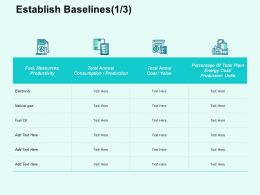 Establish Baselines Ppt Powerpoint Presentation File Designs
