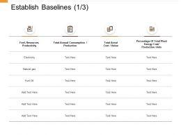 Establish Baselines Productivity Ppt Powerpoint Presentation File Professional