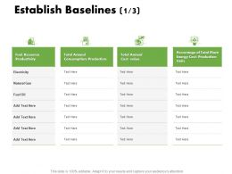 Establish Baselines Resource Ppt Powerpoint Presentation Summary